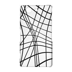Black and white decorative lines Sony Xperia Z3 Compact