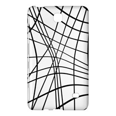 Black and white decorative lines Samsung Galaxy Tab 4 (8 ) Hardshell Case