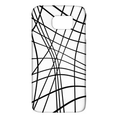 Black and white decorative lines Galaxy S6