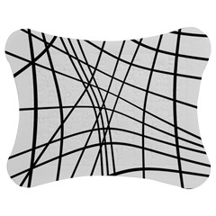 Black and white decorative lines Jigsaw Puzzle Photo Stand (Bow)
