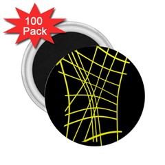 Yellow abstraction 2.25  Magnets (100 pack)