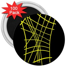 Yellow abstraction 3  Magnets (100 pack)