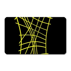 Yellow abstraction Magnet (Rectangular)
