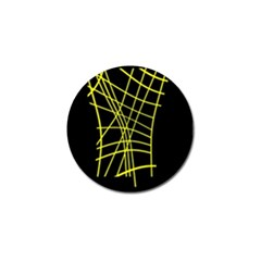 Yellow abstraction Golf Ball Marker