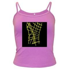 Yellow abstraction Dark Spaghetti Tank