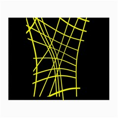 Yellow abstraction Small Glasses Cloth