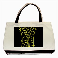 Yellow abstraction Basic Tote Bag (Two Sides)