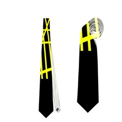 Yellow abstraction Neckties (One Side)