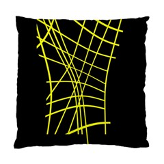 Yellow abstraction Standard Cushion Case (One Side)