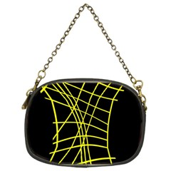 Yellow abstraction Chain Purses (Two Sides)