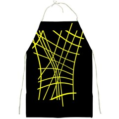 Yellow abstraction Full Print Aprons