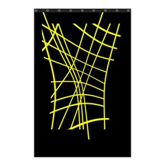 Yellow abstraction Shower Curtain 48  x 72  (Small)