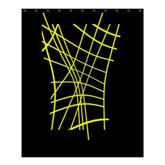 Yellow abstraction Shower Curtain 60  x 72  (Medium)