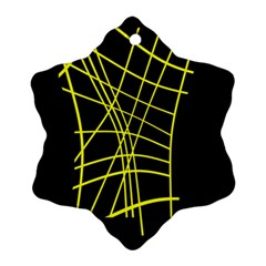 Yellow abstraction Ornament (Snowflake)