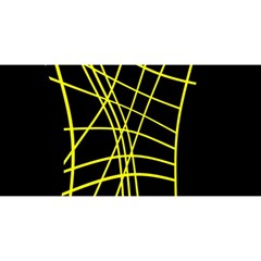 Yellow abstraction YOU ARE INVITED 3D Greeting Card (8x4)