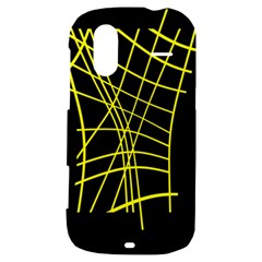 Yellow abstraction HTC Amaze 4G Hardshell Case