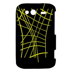 Yellow abstraction HTC Wildfire S A510e Hardshell Case