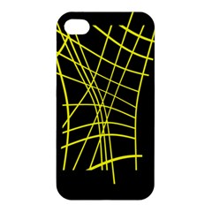Yellow abstraction Apple iPhone 4/4S Premium Hardshell Case