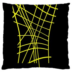 Yellow abstraction Large Cushion Case (One Side)