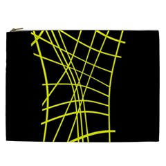 Yellow abstraction Cosmetic Bag (XXL)