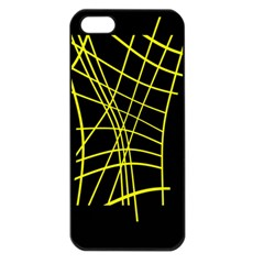 Yellow abstraction Apple iPhone 5 Seamless Case (Black)