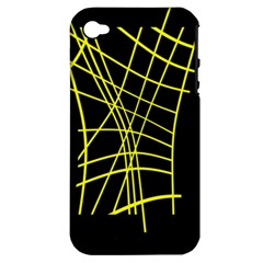 Yellow Abstraction Apple Iphone 4/4s Hardshell Case (pc+silicone)