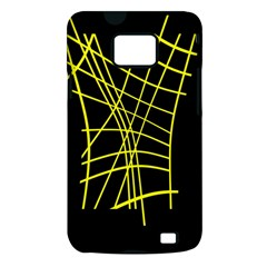 Yellow abstraction Samsung Galaxy S II i9100 Hardshell Case (PC+Silicone)