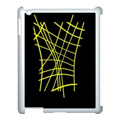 Yellow abstraction Apple iPad 3/4 Case (White)