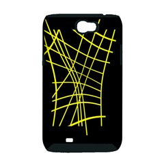 Yellow abstraction Samsung Galaxy Note 2 Hardshell Case (PC+Silicone)