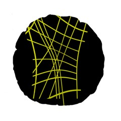 Yellow abstraction Standard 15  Premium Round Cushions