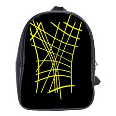 Yellow abstraction School Bags (XL)