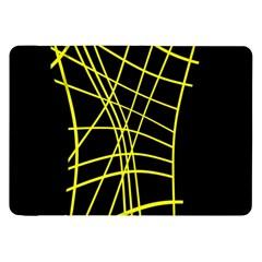 Yellow abstraction Samsung Galaxy Tab 8.9  P7300 Flip Case
