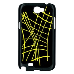 Yellow abstraction Samsung Galaxy Note 2 Case (Black)