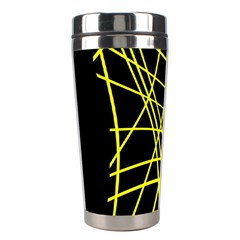 Yellow abstraction Stainless Steel Travel Tumblers