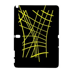 Yellow abstraction Samsung Galaxy Note 10.1 (P600) Hardshell Case
