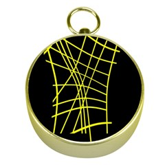 Yellow abstraction Gold Compasses