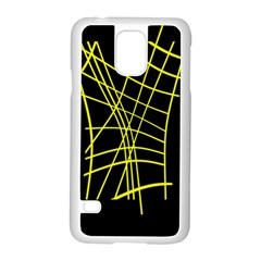 Yellow abstraction Samsung Galaxy S5 Case (White)