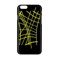 Yellow abstraction Apple iPhone 6/6S Black Enamel Case
