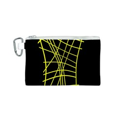 Yellow abstraction Canvas Cosmetic Bag (S)
