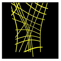 Yellow abstraction Large Satin Scarf (Square)