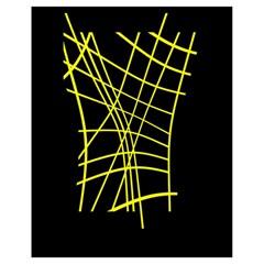 Yellow abstraction Drawstring Bag (Small)