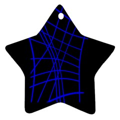 Neon blue abstraction Ornament (Star)