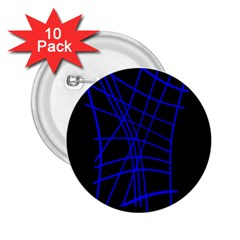 Neon blue abstraction 2.25  Buttons (10 pack)