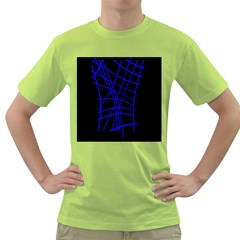 Neon blue abstraction Green T-Shirt
