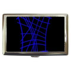 Neon blue abstraction Cigarette Money Cases