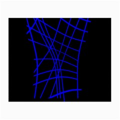 Neon blue abstraction Small Glasses Cloth