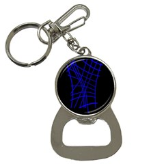 Neon blue abstraction Bottle Opener Key Chains