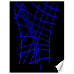 Neon blue abstraction Canvas 18  x 24