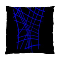 Neon blue abstraction Standard Cushion Case (Two Sides)