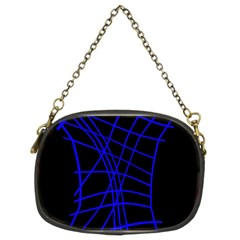 Neon blue abstraction Chain Purses (Two Sides)